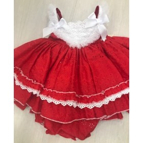 La Amapola Baby dress red Dafne