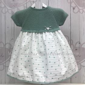 Pangasa Vestido bebe Verde Mint