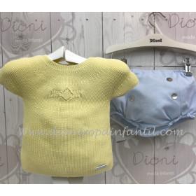 Pangasa Conjunto Ranita Pique Jersey Amarillo