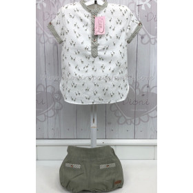 Lolittos Conjunto Niño Rana con Camisa Safari
