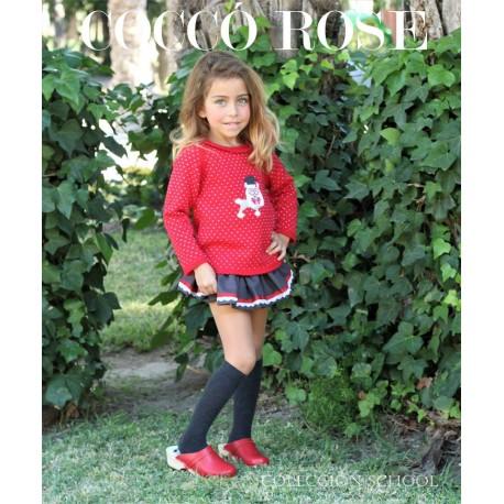 Cocco Rose Conjunto Falda niña School